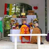 A ceremony at a Yangon cemetery for the war dead on Nov. 9. | AGON SHU