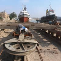 A century on, Basra's British-era shipyard going strong via vintage machinery