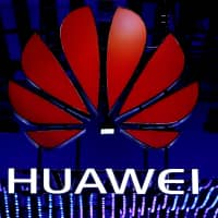 The Huawei logo is seen during the Mobile World Congress in Barcelona, Spain, last February. | REUTERS