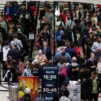 Long lines are seen at a Transportation Security Administration (TSA) security checkpoint at Hartsfield-Jackson Atlanta International Airport amid the partial federal government shutdown, in Atlanta Jan. 18. | REUTERS