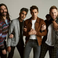 Fab five: The hosts of 'Queer Eye,' (from left) Jonathan Van Ness, Tan France, Antoni Porowski, Bobby Berk and Karamo Brown, will perform lifestyle makeovers on four people in Japan in upcoming episodes. | PHOTO COURTESY OF NETFLIX/ VIA KYODO