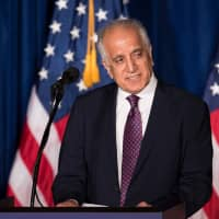 U.S. special envoy Zalmay Khalilzad, shown in a file photo, will travel to Kabul to discuss 'significant progress' in peace negotiations with the Taliban. | AFP-JIJI