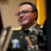 Venezuelan Col. Jose Luis Silva, Venezuela's military attache at its Washington embassy to the United States, is interviewed by Reuters after announcing that he is defecting from the government of President Nicolas Maduro in Washington Saturday. | REUTERS