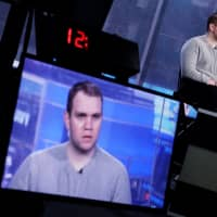 Matthew Hedges gives a TV interview in the Manhattan borough of New York City Jan. 17. | REUTERS