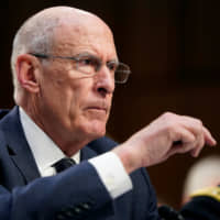 U.S. Director of National Intelligence Dan Coats testifies before the Senate Intelligence Committee on Capitol Hill in Washington on Tuesday.  | REUTERS