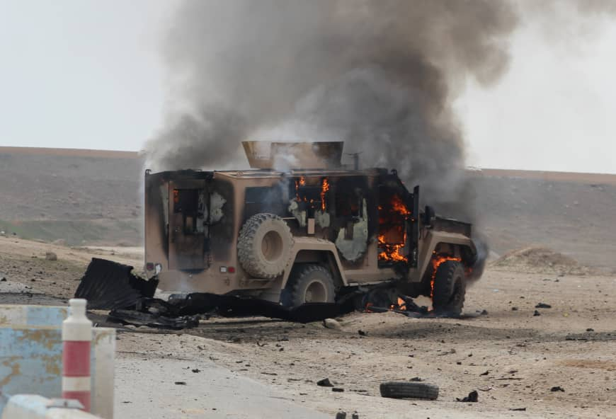 Islamic State-claimed suicide attack on Kurdish-U.S. convoy in Syria 'kills five'
