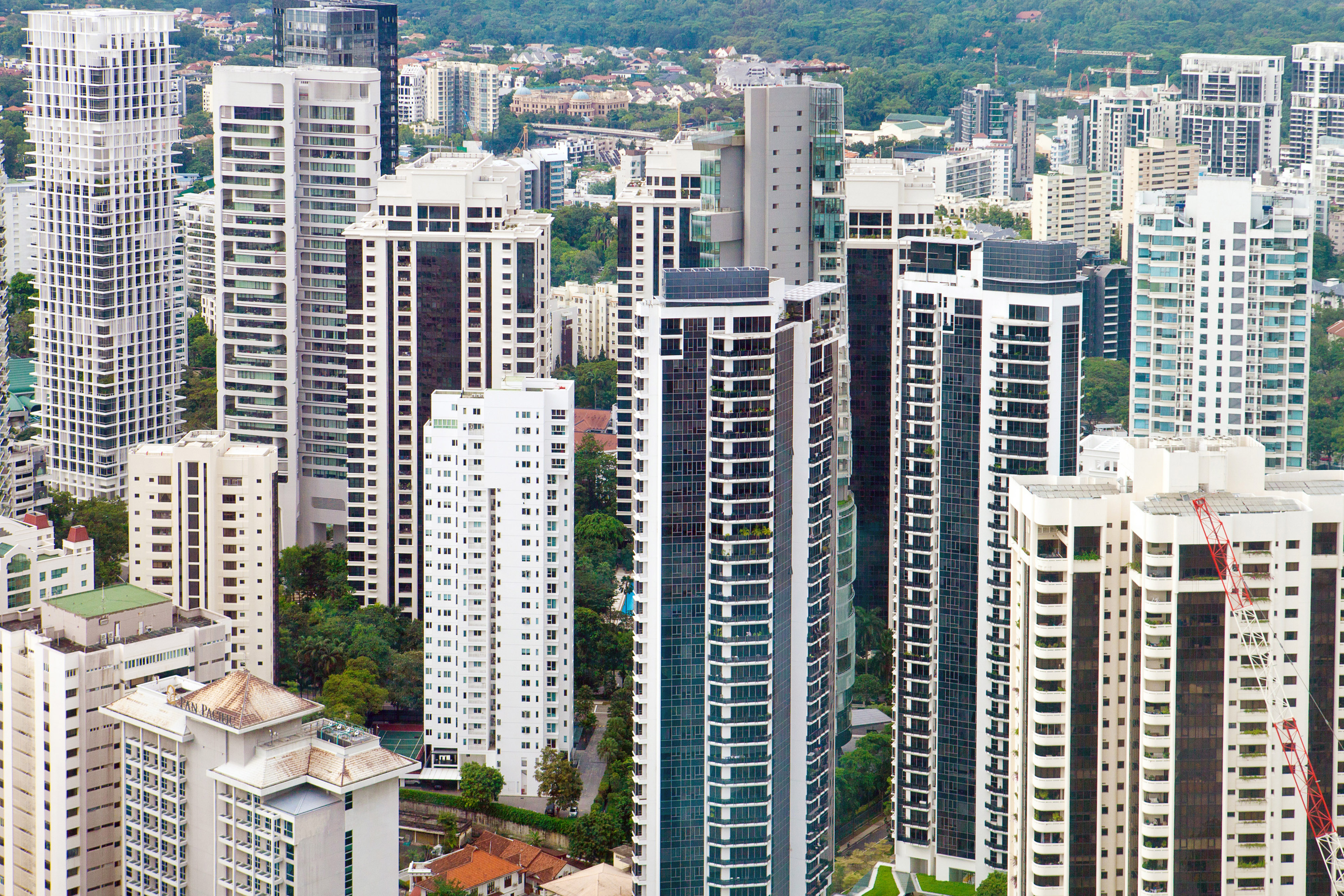 Residential buildings in the Orchard Road area of Singapore | BLOOMBERG