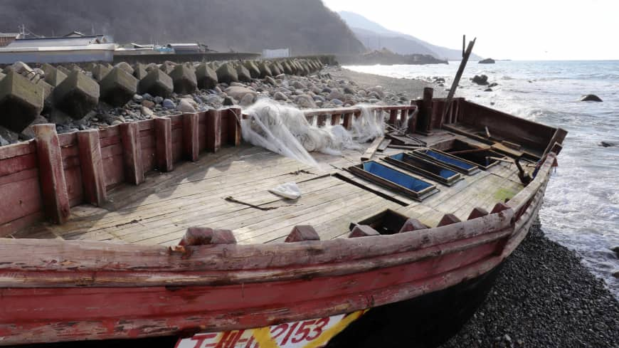 Dozens of North Korean boats, some carrying human remains, continue to wash ashore in northern Japan