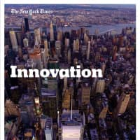 The cover of the 2014 'Innovation Report' | THE NEW YORK TIMES