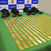 Two Israeli Tokyo residents arrested over bid to smuggle 220 kg of gold bars into Japan by airmail