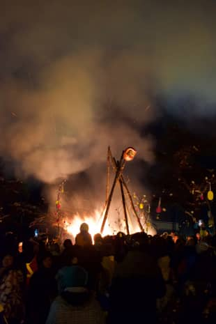 Apres ski: The annual Madarao Kogen Fire festival culminates with a large bonfire in the center of the village.