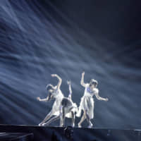 Striking a pose: Perfume has been putting more effort into the trio's dance moves ahead of a series of gigs in the United States. | AZUSA TAKADA
