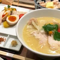 Signature bowl: Kagari has reopened in Ginza with bigger premises and an expanded menu of chicken broth ramen, including its special Tori Paitan Soba. | ROBBIE SWINNERTON