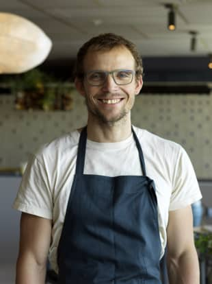 Culinary star: Chef Thomas Frebel of Inua, whose restaurant is in contention for the Arrival of the Year award.