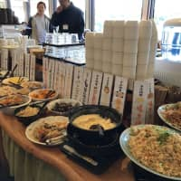 Kogen no Kaze, a buffet restaurant in Jinsekikogen offering local delicacies cooked by wives of local farmers. | MAIKO MURAOKA