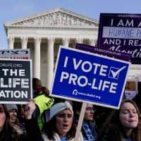 Anti-abortion marchers rally at the Supreme Court during the 46th annual March for Life in Washington Jan. 18. | REUTERS