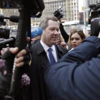 Jeffrey Lichtman, a defense attorney for Joaquin 'El Chapo' Guzman, arrives at federal court in New York Tuesday. A jury is deliberating at the U.S. trial of the infamous Mexican drug lord. | AP