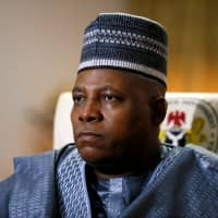 Kashim Shettima, governor of Borno state, looks on during an interview with Reuters in Maiduguri, in 2017. | REUTERS