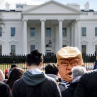 Presidents Day protests decry Trump's emergency declaration as power grab