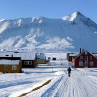 The NY-Aalesund research station on the Svalbard archipelago of Norway is seen in September. | REUTERS
