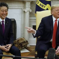 Trump claims Abe nominated him for Nobel Peace Prize