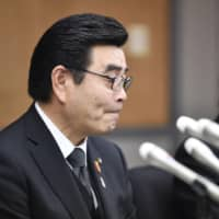 Yu Suzuki, the mayor of Noda, Chiba Prefecture, attends a news conference Thursday regarding the death of a 10-year-old girl. | KYODO