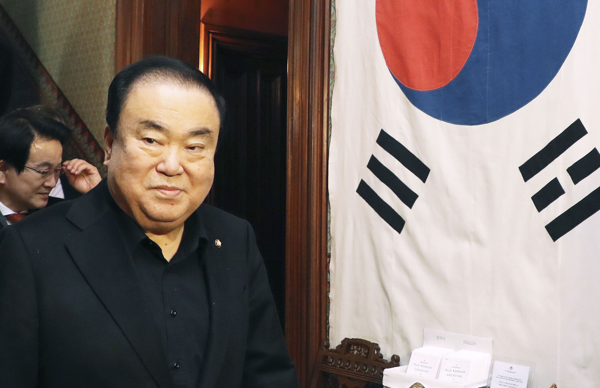 Moon Hee-sang, the speaker of South Korea's National Assembly, visits Washington earlier this month. | YONHAP / VIA KYODO