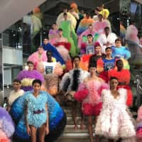 Bright exposure: Tomo Koizumi's collection at New York Fashion Week was an explosion of ruffles and color.   COURTESY OF TOMO KOIZUMI