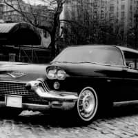 A Cadillac Eldorado, seen in 1958 outside New York City's Tavern on the Green restaurant, was a symbol of the era's affluence. | ASSOCIATED PRESS