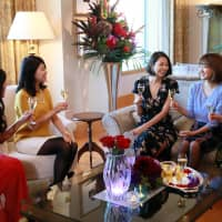 Single-minded: Nanako Oguchi (center) fought off stiff competition to place second  on the second series of 'The Bachelor Japan.'  | © 2018 WARNER BROS. INTERNATIONAL TELEVISION PRODUCTION LIMITED. ALL RIGHTS RESERVED