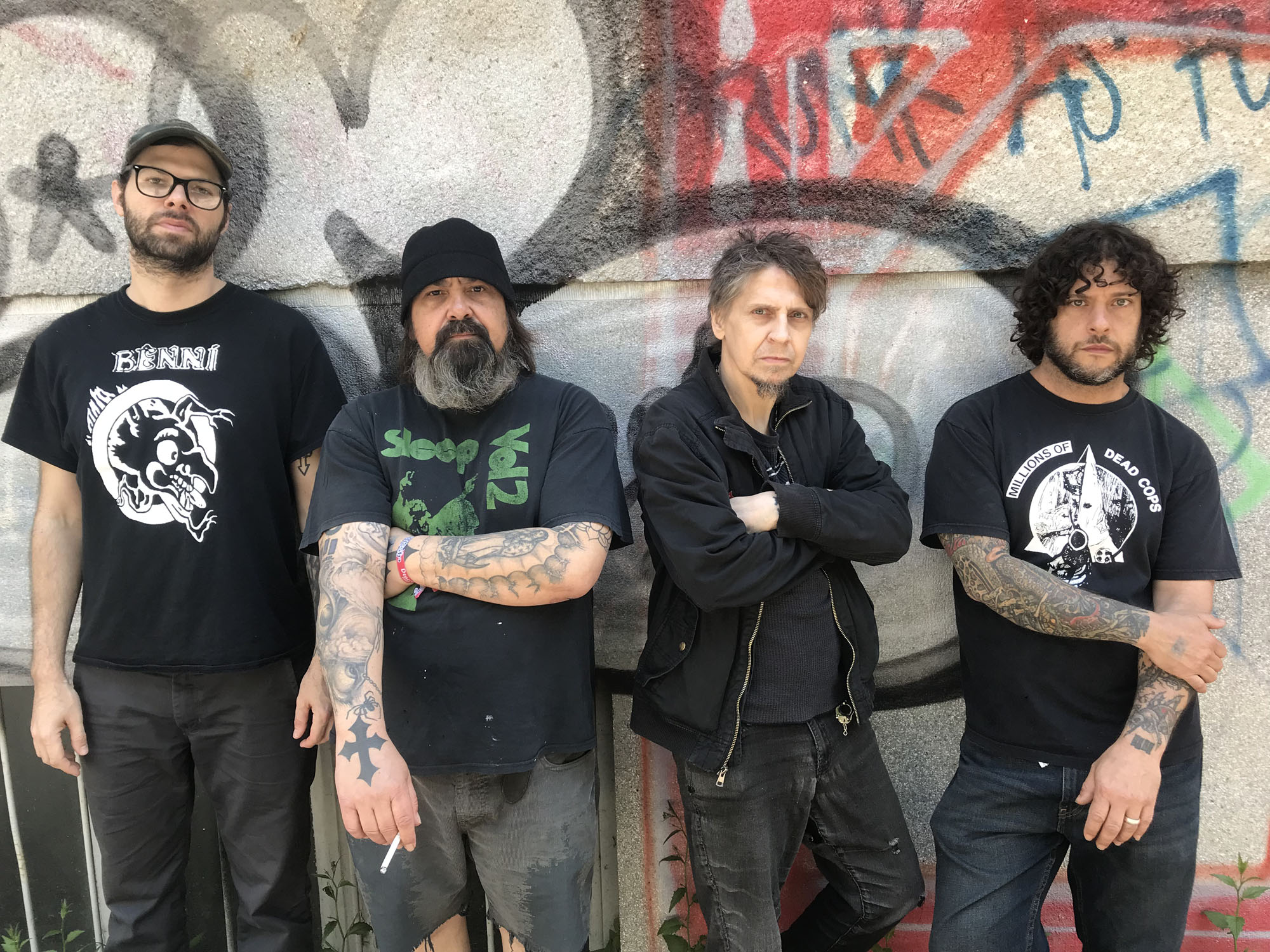 Makers of metal: Eyehategod (from left): drummer Aaron Hill, guitarist Jimmy Bower, vocalist Mike Williams and bassist Gary Mader. | COURTESY OF EYEHATEGOD