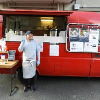 Always on the move: Takumi Takase poses in front of his food truck, Sameya. | JOAN BAILEY