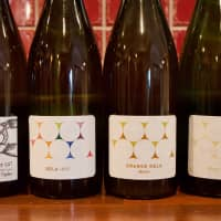 From the fields to the streets: A selection of the Shimanouchi Fujimaru Winery's wines, which are produced in the center of the city of Osaka. | OSCAR BOYD