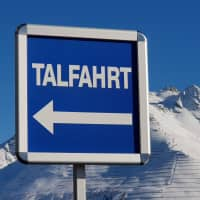 Any clue?: A sign on a ski slope in Austria reads 'Talfahrt,' the German word for 'descent.' | AMY CHAVEZ