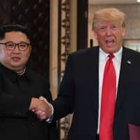 U.S. President Donald Trump and North Korean leader Kim Jong Un, who last met June 12 in Singapore, will hold their second summit in Danang, Vietnam, on Feb. 27 and 28. | AFP-JIJI