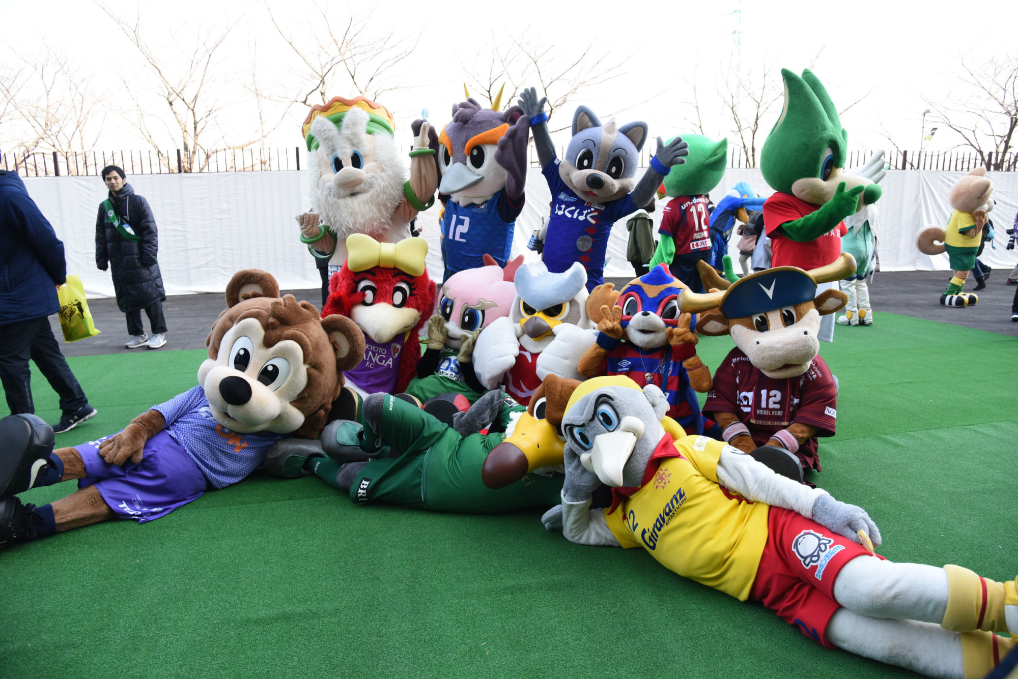 The Super Cup's annual mascot meet-and-greet event has become a hotter ticket than the match itself.   DAN ORLOWITZ