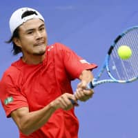Japan splits two opening matches against China in Davis Cup qualifying round