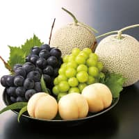 Okayama is known for delicious fruits, especially peaches and grapes.