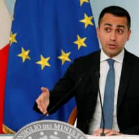 Italian Deputy Prime Minister Luigi di Maio holds a news conference in Rome Friday. | REUTERS