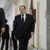 U.S. House Judiciary Committee Chairman Jerrold Nadler returns to Capitol Hill in Washington on Monday. | AP