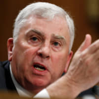 Retired four-star Army Gen. John Abizaid testifies before the Senate Foreign Relations Committee during his confirmation hearing to be U.S. ambassador to Saudi Arabia on Capitol Hill in Washington Wednesday.   REUTERS