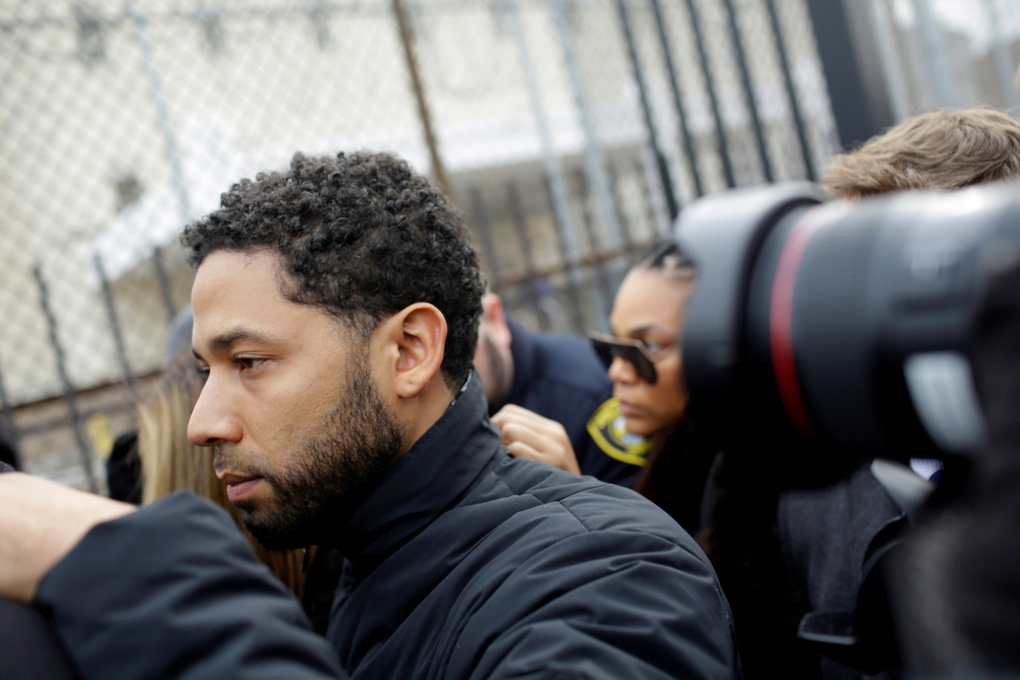 Jussie Smollett exits Cook County Department of Corrections after posting bail in Chicago Feb. 21.   REUTERS