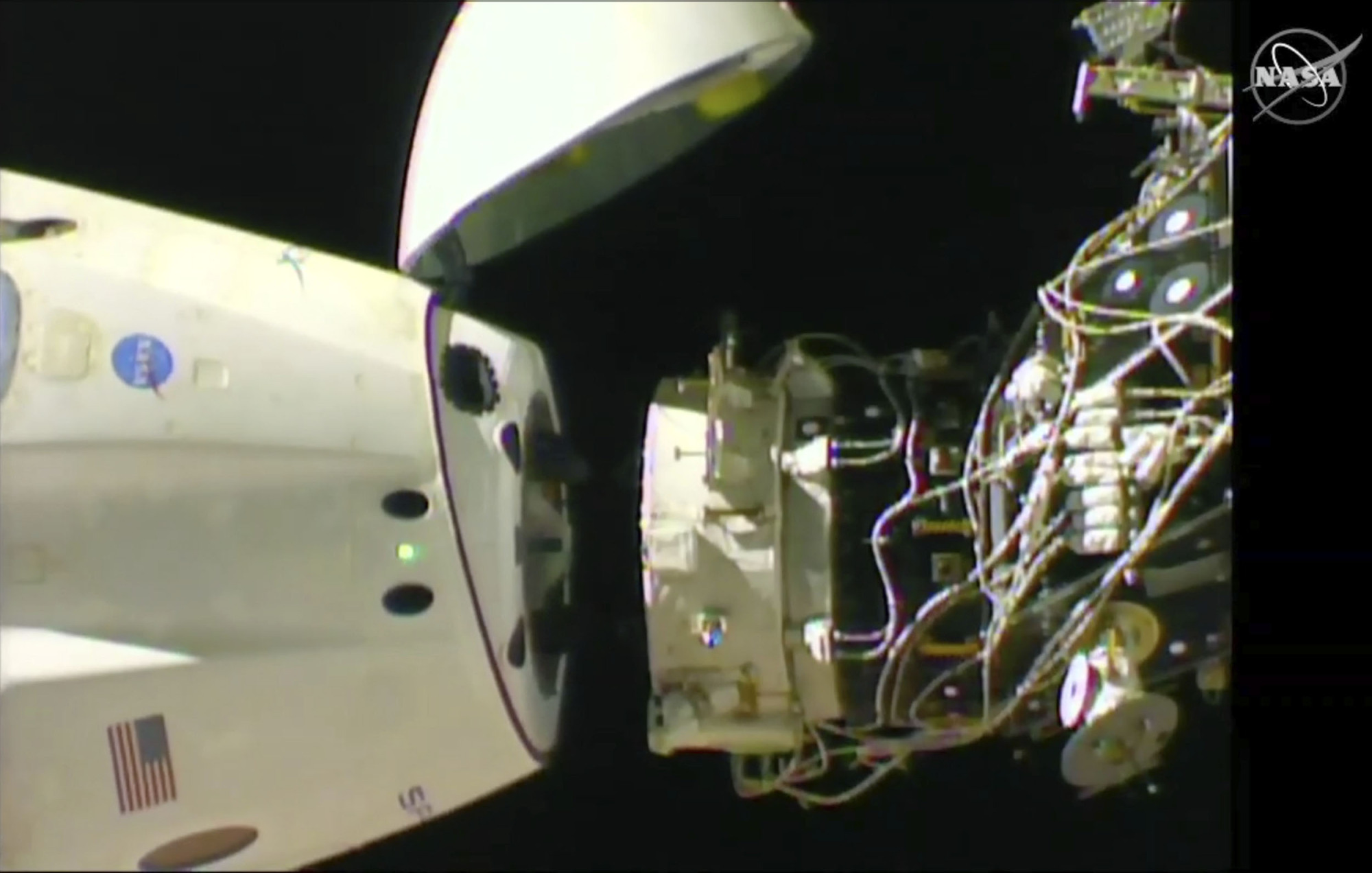 SpaceX's Dragon crew capsule undocks from the International Space Station on Friday. | AP
