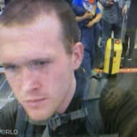 A frame grab taken from a CCTV video made available by the state-run Turkish broadcaster TRT World on Saturday shows the arrival of a man who is believed to be Australia-born Brenton Tarrant on March 13, 2016, at Istanbul's Ataturk International airport in Turkey. The 28-year-old Australia-born Tarrant — who has been arrested and charged with murder in New Zealand — apparently 'visited Turkey several times and stayed for a long period in the country,' a Turkish official said without giving dates. | TRT WORLD / TRT WORLD / VIA AFP-JIJI