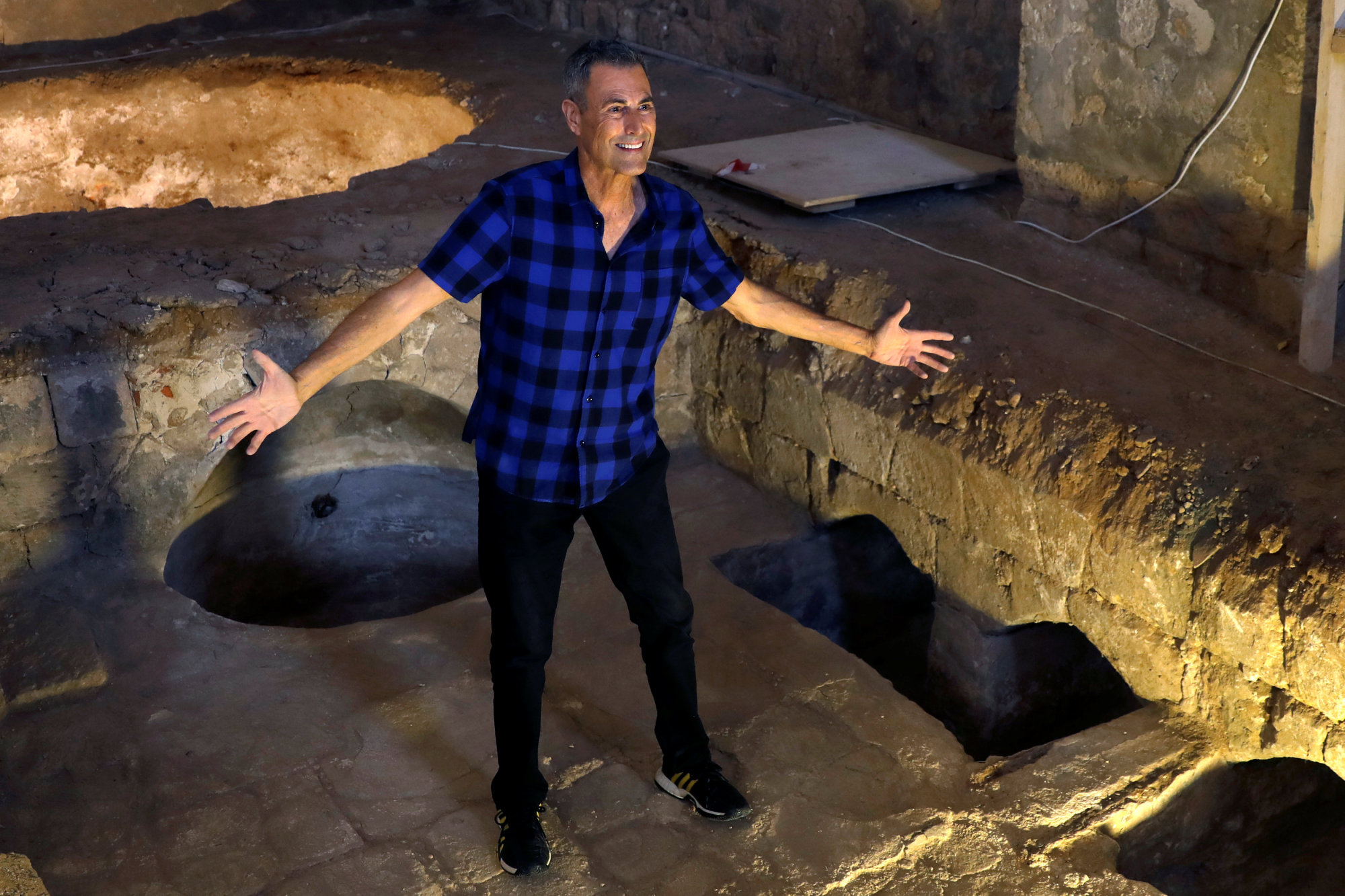 Uri Geller gestures during an interview at the Uri Geller Museum in Jaffa, near Tel Aviv, last August. | REUTERS