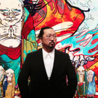 Artist Takashi Murakami in 2012, in front of his work 'The 500 Arhats.' | CHIKA OKAZUMI ©︎TAKASHI MURAKAMI/KAIKAI KIKI CO., LTD. ALL RIGHTS RESERVED.