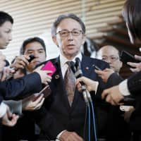Okinawa Gov. Denny Tamaki requests month of talks with Abe in bid to halt U.S. base transfer