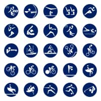 The official 50 pictograms for the events of the Tokyo 2020 Olympics. | THE TOKYO ORGANISING COMMITTEE OF THE OLYMPIC AND PARALYMPIC GAMES (TOKYO 2020)