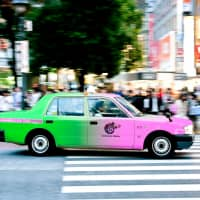 Tokyo taxis show off true colors to make ride-hailing easier
