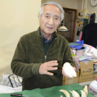 Ishinomaki whale-tooth artisan who lost shop on 3/11 sees chance to preserve tradition